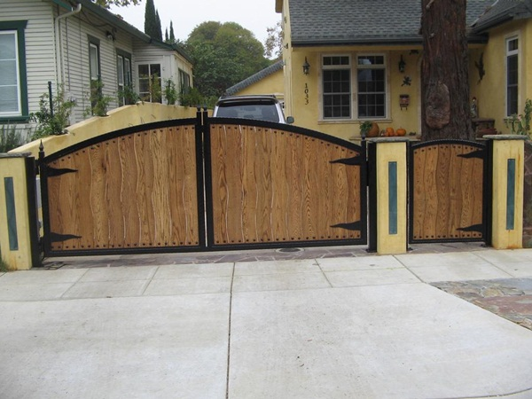 window front gates had gained popularity these days these gates are simple gates that have windows slightly above the middle to view the person who is - Gate Design Ideas