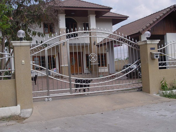 25 front gate designs welcome your guest with perfect for Main gate design